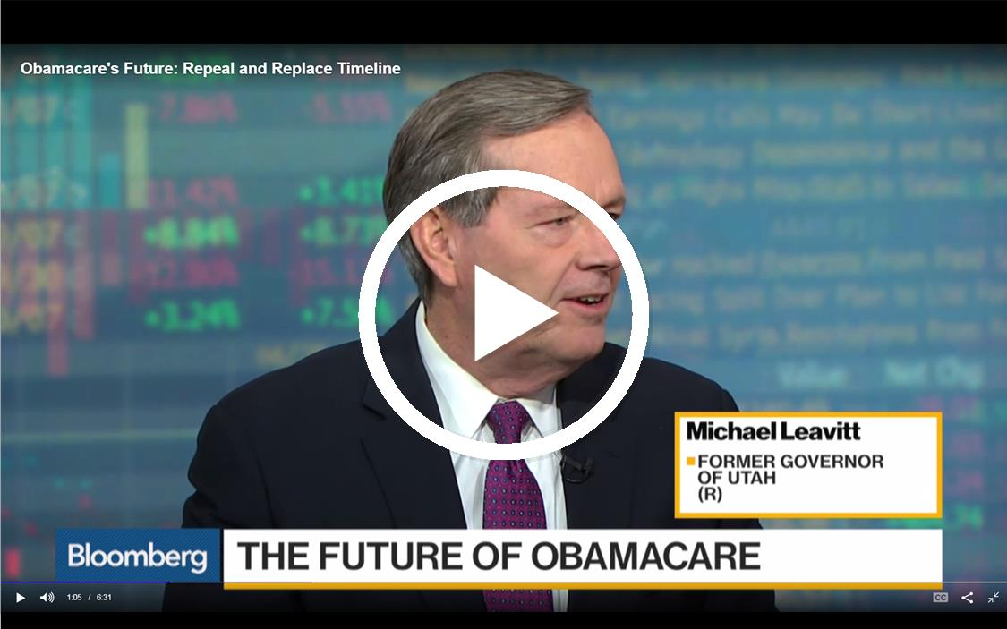 Michael Leavitt on Bloomberg
