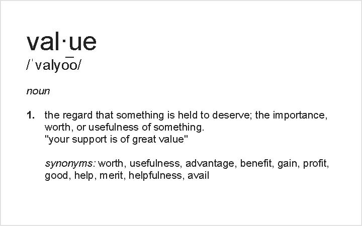 Value dating definition